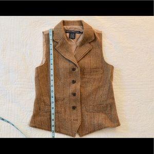 Brown Tweed Vest - Ralph Lauren Sport - Size 2